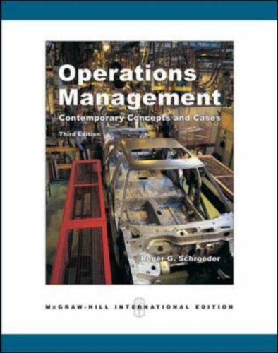 Operations Management: With Student CD-ROM: Contemporary Concepts and Cases