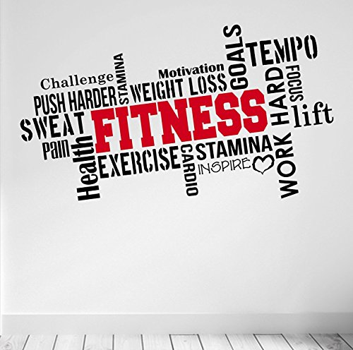 PRO FITNESS Motivational Wall Decal Gym Quote by DesignDivil