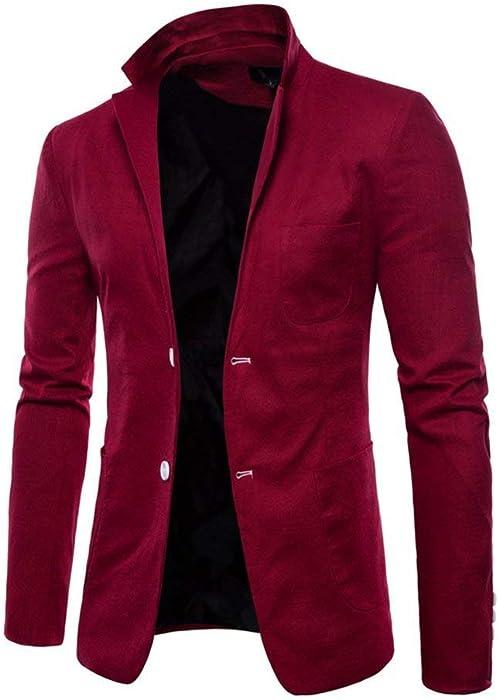 Runyue Herren Sakko Beil/äufiger Zwei Tasten Stilvoller Anzug Jacken Sweatjacke Anzugjacken Jacke Jackett