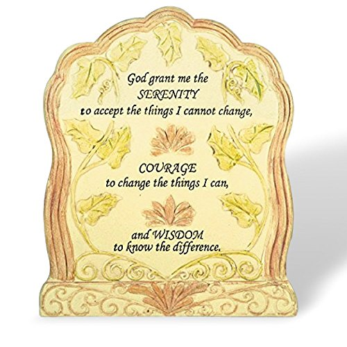 Banberry Designs Serenity Prayer - Desktop Plaque With Bible Verse - God Grant Me the Serenity - Religious (Plaques Desktop)