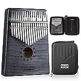 GECKO Kalimba 17 Key Thumb Piano with Hardshell