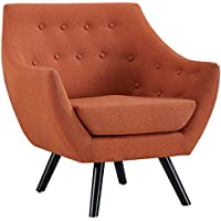 Modway EEI-2549-ORA Allegory Mid-Century Modern Upholstered Fabric Accent Arm Chair Orange