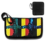 Dance With Belgium Flag Creative Multifunctional Anti-theft Card BagsPortable Pouch For Unisex