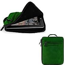 "Travel Carrying Case Tablet Pouch Sleeve Cover 7""-8"" for iPad Mini 4 / Asus ZenPad S8 / Hisense Sero 8 Pro / LeapFrog LeapPad3 / Samsung Galaxy Tab S2 8.0 / Archos Diamond Tab (Black/Green)"