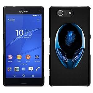 EJOY---Cubierta de la caja de protección para la piel dura ** Sony Xperia Z3 Compact ** --Extranjero azul