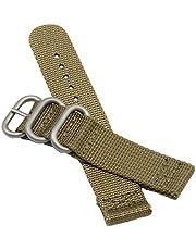 Bretelles kakis de Montre de Style Militaire de l'NATO en Nylon Durable 20-24mm Bandes Remplacements pour Les Hommes