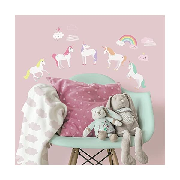 RoomMates Unicorn Magic Peel And Stick Wall Decals 3