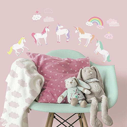 RoomMates RMK3628SCS Unicorn Magic Peel and Stick Wall Decal