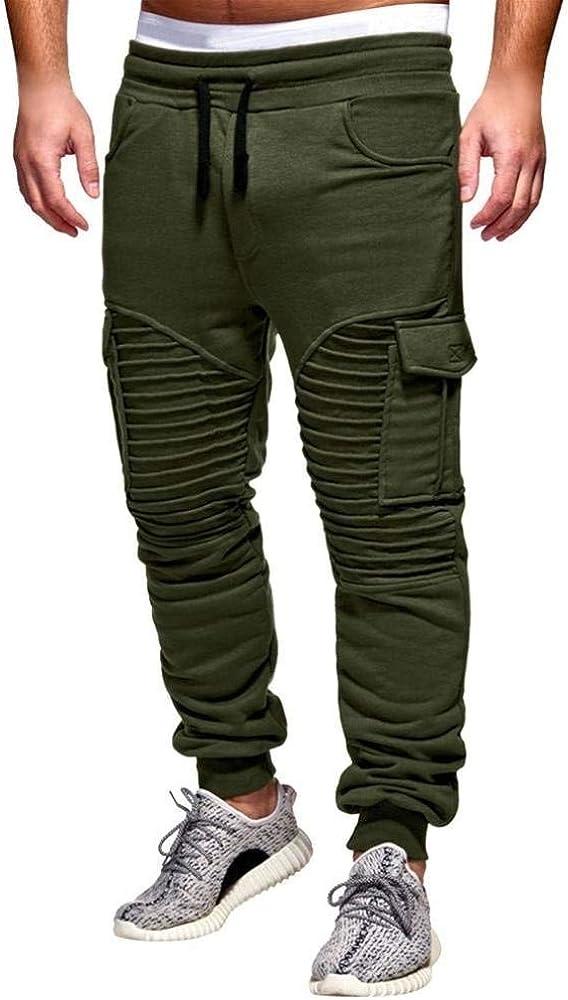 Pantalones para Hombres Ropa De Ocio Joggers para Hombres Vintage ...