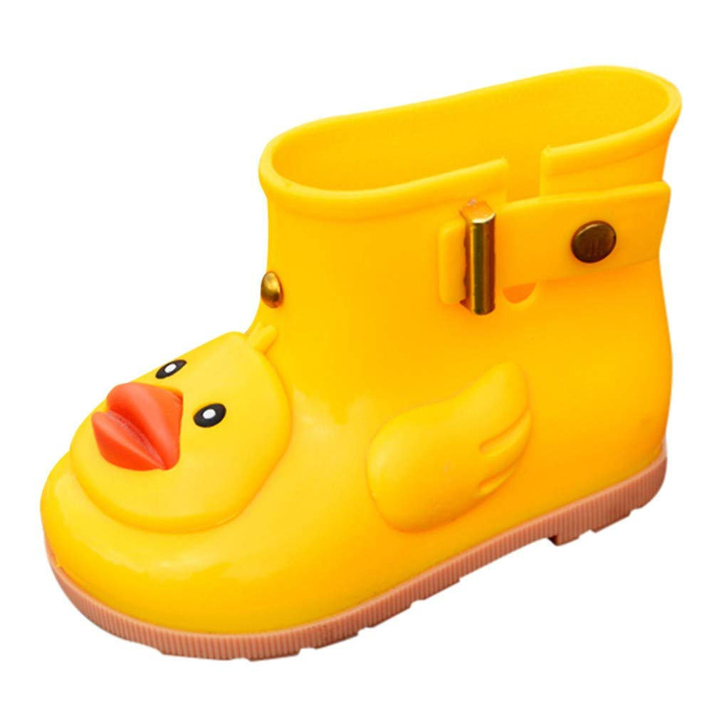 16a3e7c2bdef0 Outsta Girls' Infant Kids Bowknot Dot Rubber Waterproof Rain Shoes ...