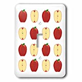 3dRose LLC lsp_77668_1 Painting Of A Red Apple and A Sliced Red Apple Repeated In A Pattern Single Toggle Switch