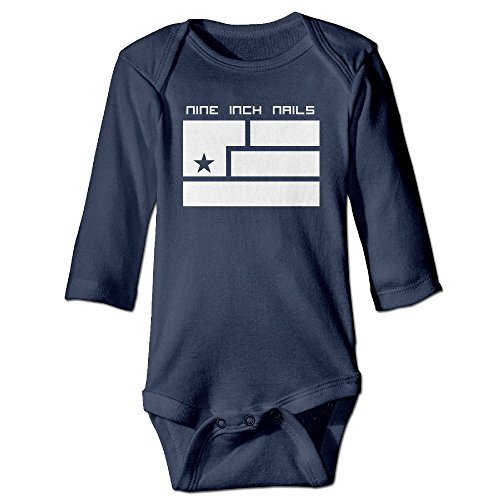 Nine Inch Nails Art Logo Kids Baby Long-sleeve Jumpsuit Navy