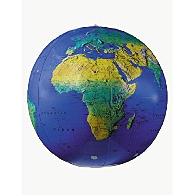 Replogle Globes Inflatable Topographical Globe, Dark Blue Ocean, 27-Inch Diameter: Home & Kitchen