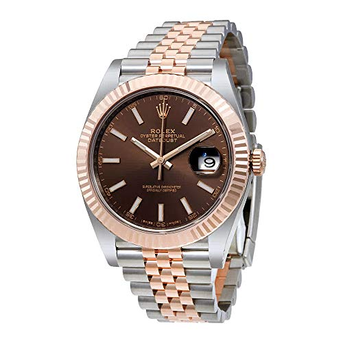 Rolex Datejust Chocolate Dial Steel and 18K Everose Gold Jubilee Mens Watch 126331CHSJ from Rolex