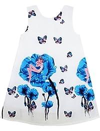 Sunny Fashion Girls Dress Little Girl Sleep In Flower Pattern Butterfly Red