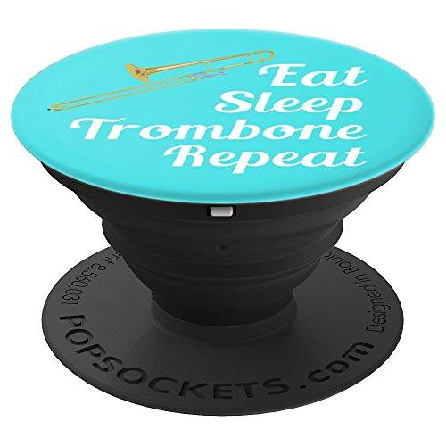 Galleon Trombone Player Gift Eat Sleep Trombone Repeat Aqua