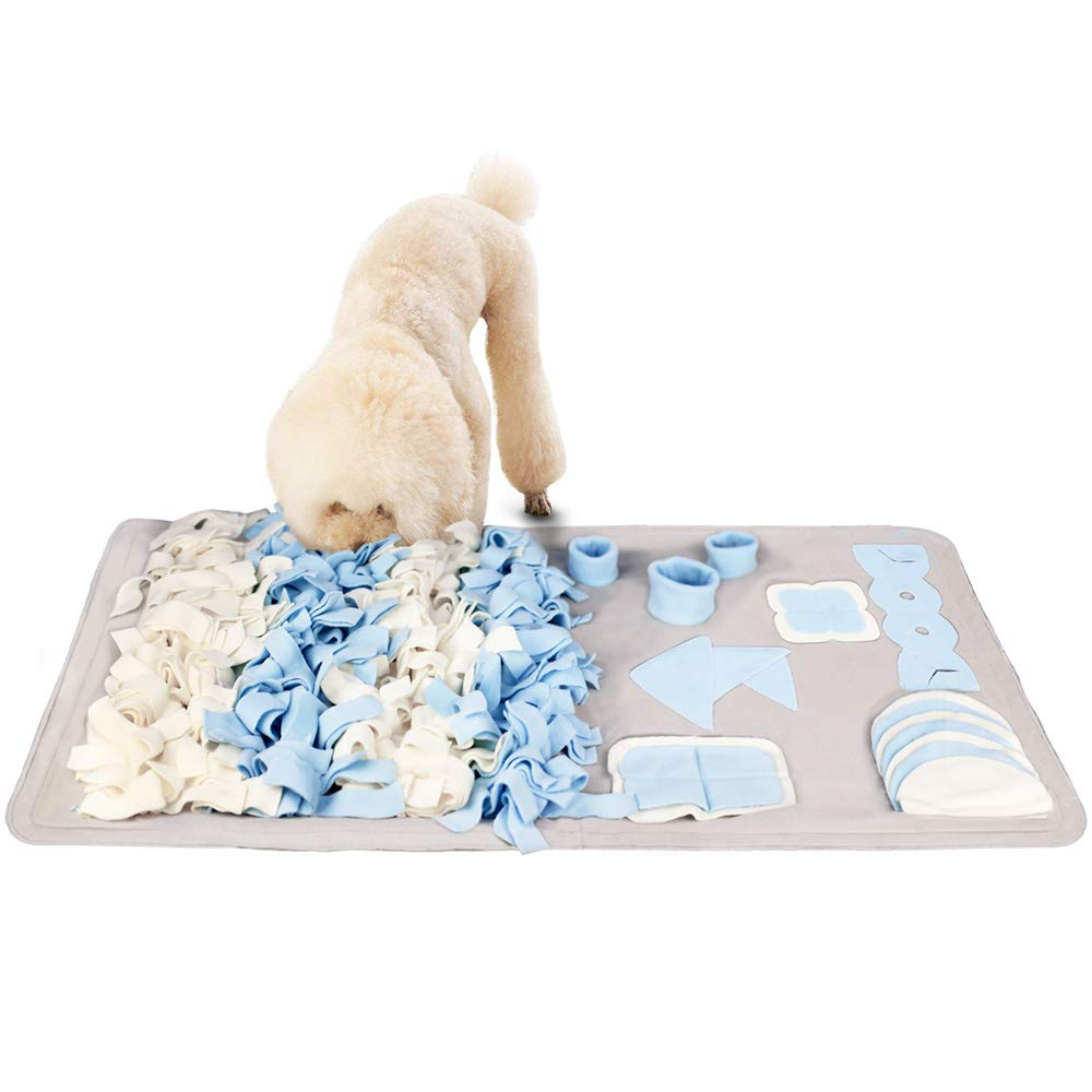 Snuffle Mat for Small Large Dogs Nosework Feeding Mat (23.6'' x 39.4'') Easy to Fill and Machine Washable Training Mats Pet Activity/Toy/Play Mat, Great for Stress Release - M by Stellaire Chern