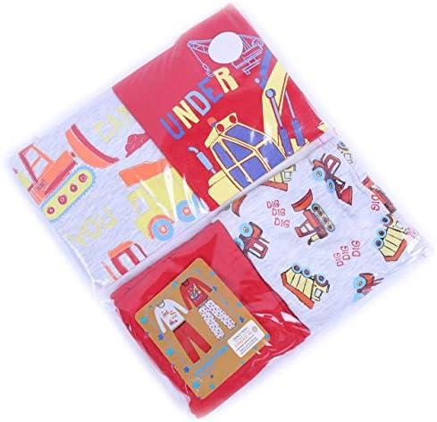 2 x Pijama Gris y Rojo con Estampado de excavadoras: Amazon.es: Ropa y accesorios