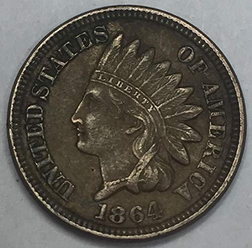 1864 Indian Head Penny Copper-Nickel Average Circulated Good to Fine