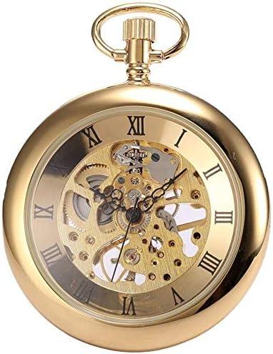 キャップレス機械式懐中時計懐中時計ペンダントウォッチ男性と女子学生ローマハイエンドクリエイティブギフト表では、色名:1 (Color : 1)