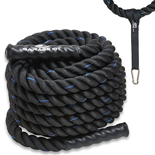 Poly Dacron Battle Rope – Workout Rope – Exercise Ropes – Training Ropes – Battle Ropes – Undulation Ropes – Great For Your Rope Workout (2″ x 30 feet) For Sale