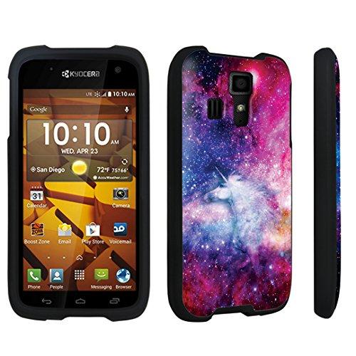 (DuroCase Kyocera Hydro ICON C6730 / Hyocera Hydro Life C6530 (Released in 2014) Hard Case Black - (Unicorn Galaxy))
