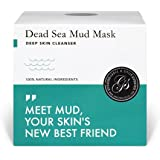 Dead Sea Mud Mask – Purify Toxins & Impurities from Congested, Acne Skin (200g / 7 fl. oz.) INCLUDES Sanitary Spatula – Minimize Appearance of Pores, Blemishes & Wrinkles - Gift Idea