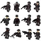 color mogu Minifigures Set Building Bricks Mini People Accessories Children Creative Role Play (12pcs)