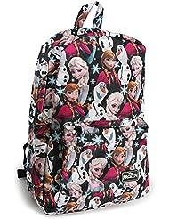 Frozen - Elsa, Anna, Olaf Nylon Backpack 12 x 16in