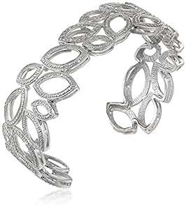 Sterling Silver Diamond Cuff Bracelet (1/10 Cttw, I-J Color, I2-I3 Clarity)