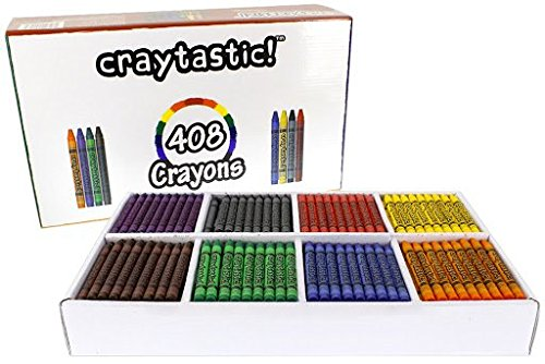 (408-Count Crayon Premium Class Pack, Best-Buy Assortment (8 Colors, Full Size 3.5 Inch) Safety Tested Compliant with ASTM)