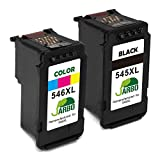 JARBO Remanufactured Canon PG-545XL CL-546XL Ink Cartridges Black/Tri-Color 2-Pack for Canon PIXMA iP2850 iP2800 MG2400 MG2450 MG2455 MG2500 MG2550 MG2900 MG2920 MG2950 MG2555 MX495