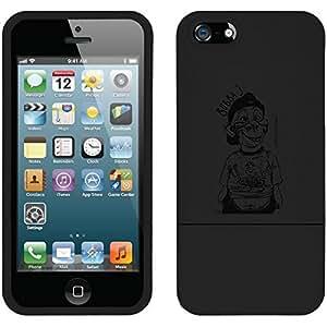 fahion caseiphone 4s Black Slider Case with Bubba Sketch by Jeff Dunham Design