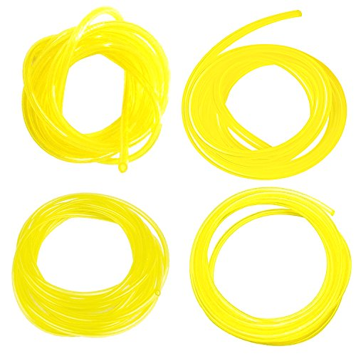 HOOAI Fuel Line - 4X 6ft Fuel Hose Fuel Tube (4 Sizes) for Poulan Craftman Chainsaw String Trimmer Blower