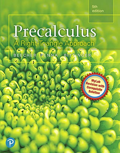 MyLab Math with Pearson eText -- Standalone Access Card -- for Precalculus: A Right Triangle Approach MyLab Revision wit