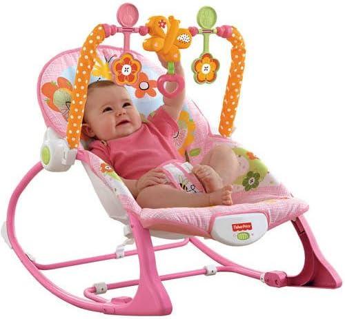 Fisher-Price Infant-to-Toddler Rocker Sleeper Pink Bunny Pattern