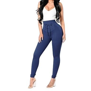 Petalum Pantalon Femme Bretelles Croisées
