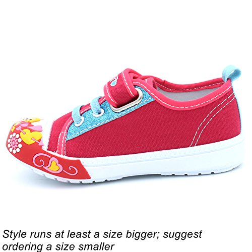 aa72b48c9 Canvas Sneakers Shoes for Toddler Girls Infant Baby Strap Soft ...