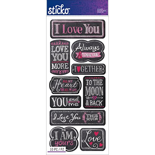 Sticko E5260136 I Love You Stickers