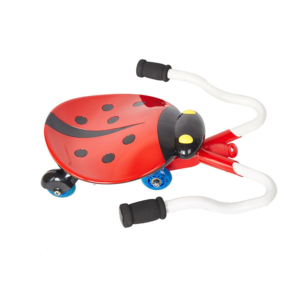 COLORTREE B/O Ride-on Slide Car with Cute Ladybug shape ,Music and Light ,Red Color