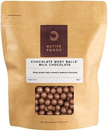BULK POWDERS Whey Protein Schoko Kugeln, Vollmilchschokolade, 500 g