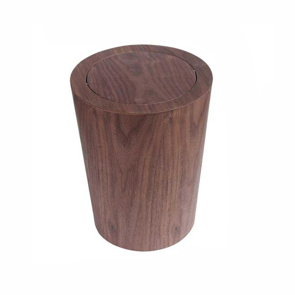 X&Y 12L Woody Trash Can Living Room Bedroom Home Hotel Office Baskets 23.5 30cm , coffee
