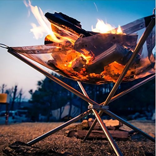Steel Mesh Campfire Stand made our list of Campfire Cooking Equipment You Can't Live Without with the best tools, accessories, utensils and cookware for your camp cooking creations!