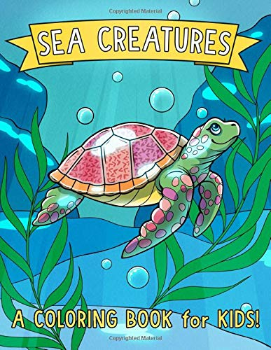 Sea Creatures Coloring Book Kids product image