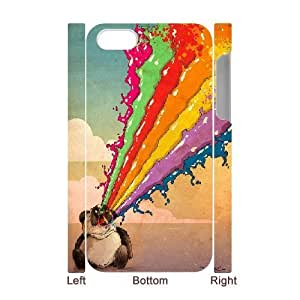 3D For Samsung Galaxy S5 Mini Case Cover , Perturbed Rainbow Vomiting Panda Hard For Samsung Galaxy S5 Mini Case Cover (White)