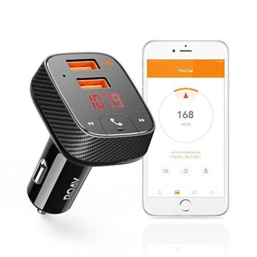 Transmitter Connection Kit (Roav by Anker SmartCharge Car Kit F2, Wireless In-Car FM Transmitter Radio Adapter, Bluetooth 4.2 Receiver, Car Locator, App Support, Dual-USB Car Charger With Power IQ AUX Output USB Drive MP3 Player)