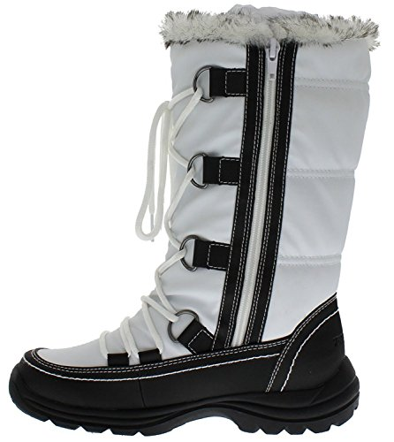 Black Women's Snow Boot Moria WeatherProof White x1aSIzaq