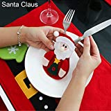 CHoppyWAVE Cutlery Pouch, Santa Snowman Cutlery Holder Utensil Bag Fork Knife Pocket Xmas Table Decor - Santa Claus