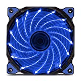 120mm PC Fan PC Case Cooling Fan 150LED Illuminating Super Silent Computer LED Cooler High Airflow CPU Cooling Fan(Blue Light)