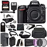 Nikon D750 DSLR Camera (Body Only) + 77mm 3 Piece Filter Set (UV, CPL, FL) + Battery + Charger + Sony 64GB SDXC Card + HDMI Cable + Remote + Memory Card Wallet + Memory Card Reader + Flash Bundle